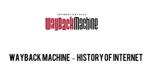 Archive.org Wayback Machine