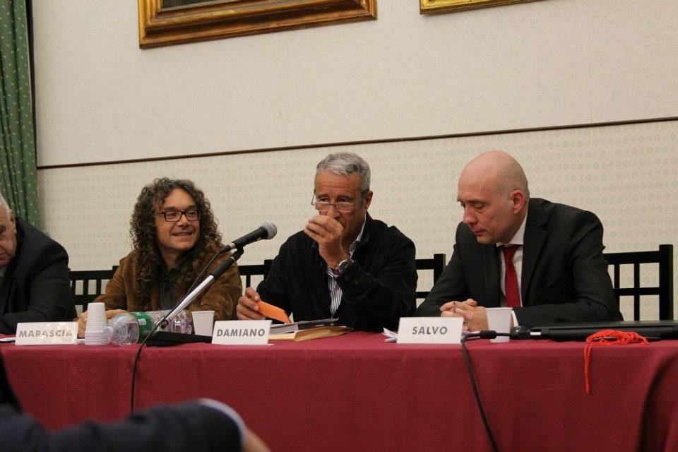 Marascia e Salvo, col sindaco Damiano