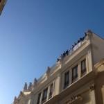 Lavoratori Megaservice sui tetti