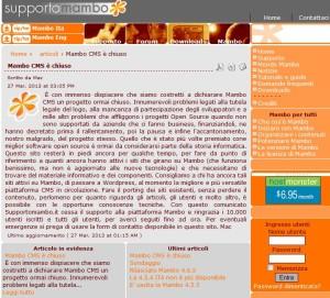 Sito Supporto Mambo Italia