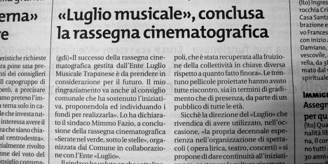 Conclusa esperienza rassegna cinematografica di Villa Pepoli