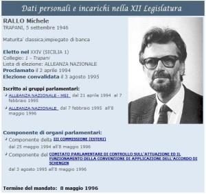 Scheda on. Michele Rallo