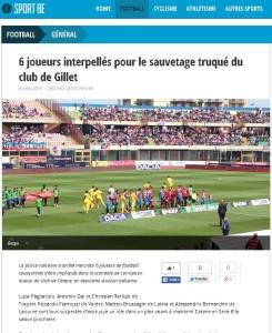 SPORT.BE - Calcio corrotto