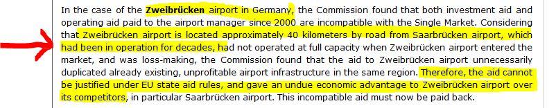 Infrazione Aeroporto Germania