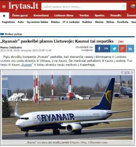 Lrytas su Ryanair