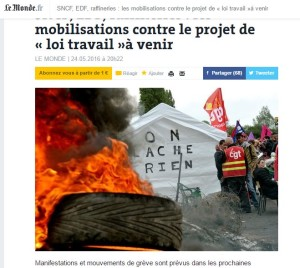 Le Monde Sciopero raffinerie