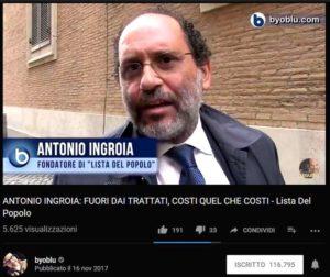 Antonio Ingroia su Byoblu per la Lista del popolo