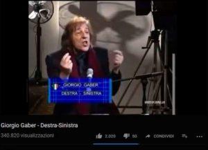 YouTube Giorgio Gaber
