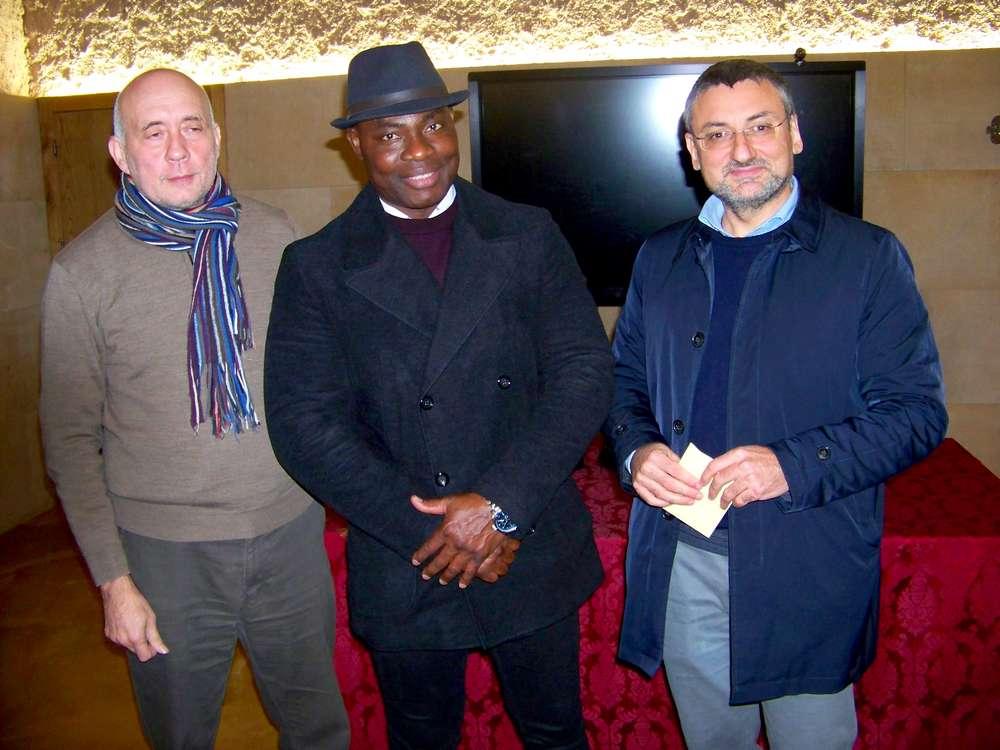 Natale Salvo, Djika Kossi e Fabrizio Bocchino
