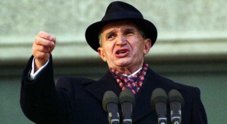 il tiranno rumeno Nicolae Ceausescu