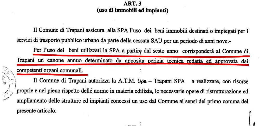 Contratto Servizio - ATM - articolo 3 canone